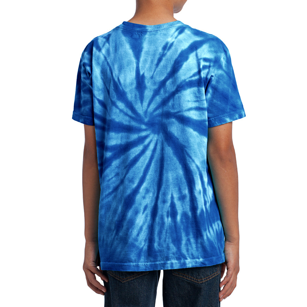 Youth Tie-Dye Tee - Royal