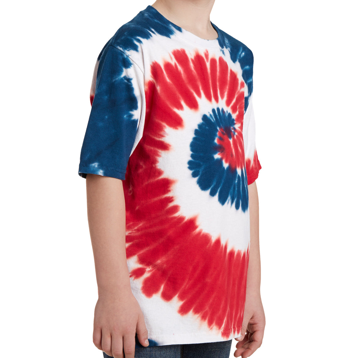 Youth Tie-Dye Tee - USA Rainbow