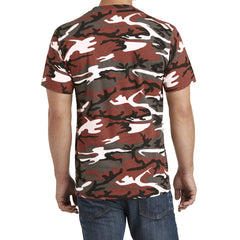 Mafoose Men's 5.4-oz 100% Cotton Tee Shirt Red Camo-Back