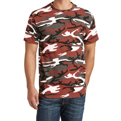 Mafoose Men's 5.4-oz 100% Cotton Tee Shirt Red Camo-Front