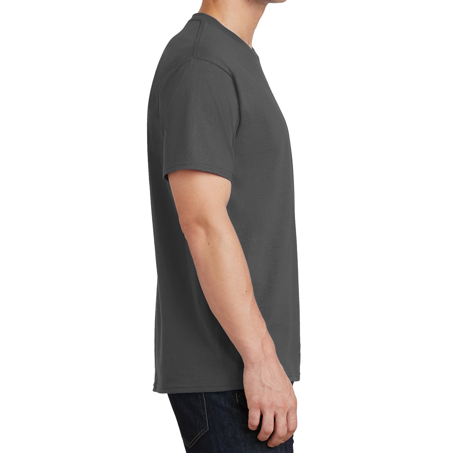 Core Cotton Tee - Charcoal