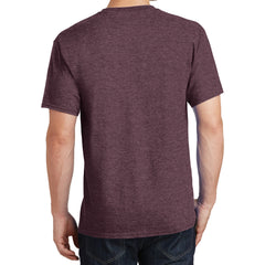 Core Cotton Tee - Heather Athletic Maroon