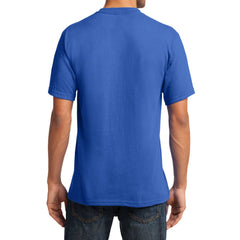 Men's Core Cotton V-Neck Tee Royal - Back