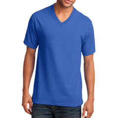 Men's Core Cotton V-Neck Tee Royal - Front