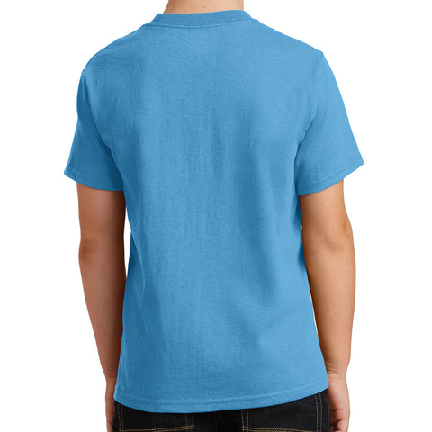 Youth Core Cotton Tee - Aquatic Blue