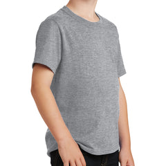 Youth Core Cotton Tee - Athletic Heather
