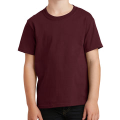 Youth Core Cotton Tee - Athletic Maroon