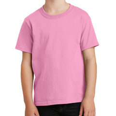 Youth Core Cotton Tee - Candy Pink