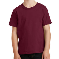 Youth Core Cotton Tee - Cardinal