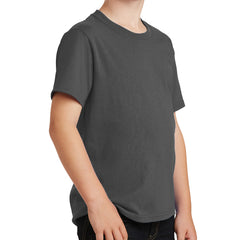 Youth Core Cotton Tee - Charcoal
