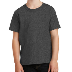 Youth Core Cotton Tee - Dark Heather Grey