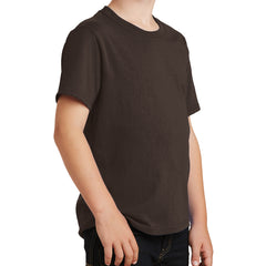Youth Core Cotton Tee - Dark Chocolate Brown