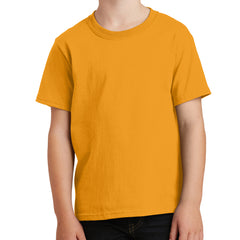 Youth Core Cotton Tee - Gold