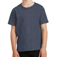 Youth Core Cotton Tee - Heather Navy