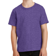 Youth Core Cotton Tee - Heather Purple