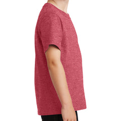 Youth Core Cotton Tee - Heather Red