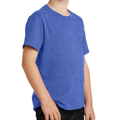 Youth Core Cotton Tee - Heather Royal