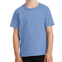 Youth Core Cotton Tee - Light Blue