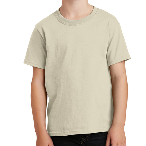 Youth Core Cotton Tee - Natural