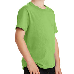 Youth Core Cotton Tee - Lime