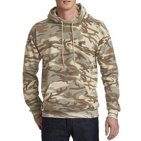 Men's Core Fleece Classic Camo Pullover Hooded Sweatshirt Desert Camo - Front