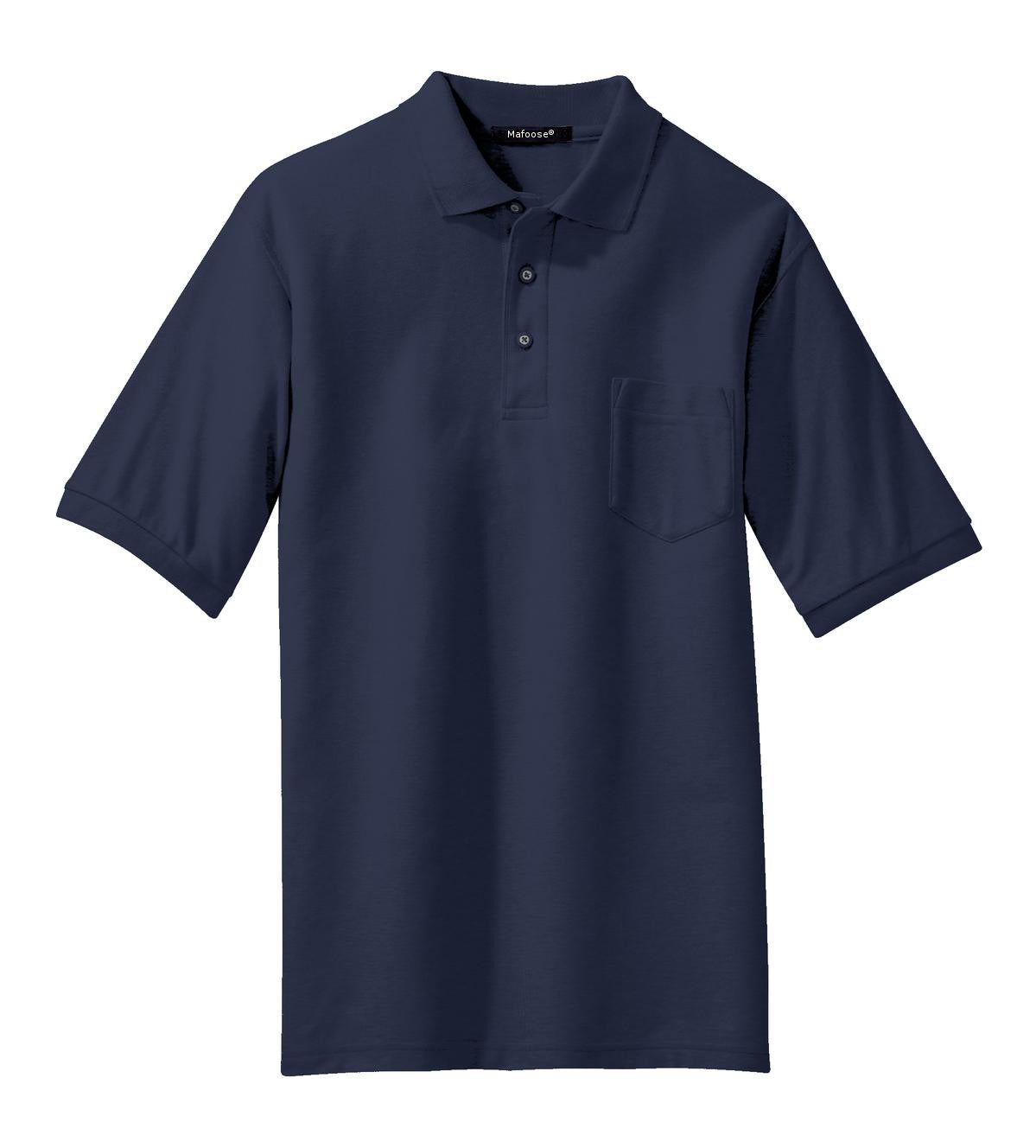 Mafoose Men's Silk Touch Polo with Pocket Navy-Front