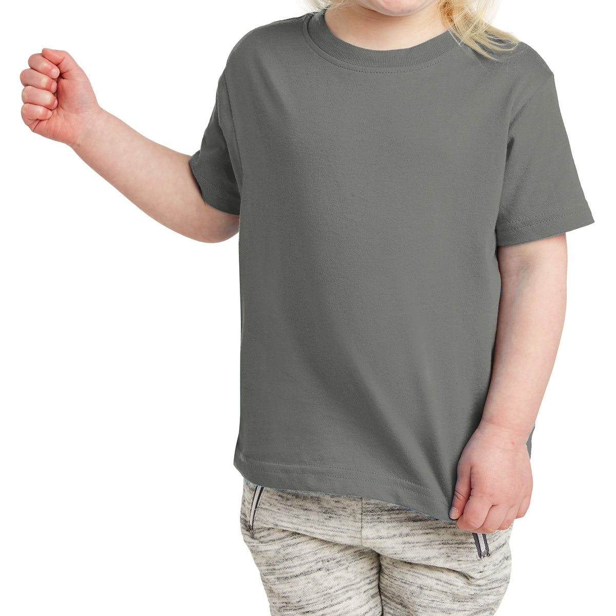 Toddler Fine Jersey Tee - Charcoal
