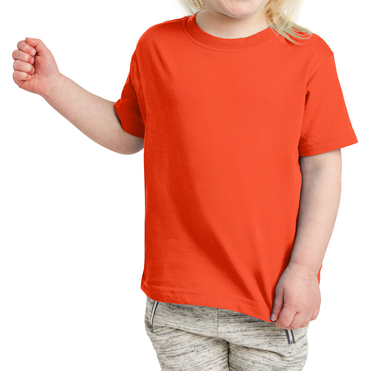 Toddler Fine Jersey Tee - Orange