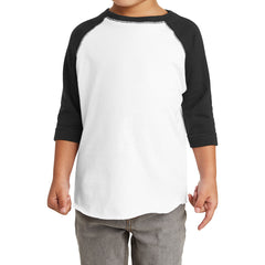 Toddler Baseball Fine Jersey Tee - White/Black