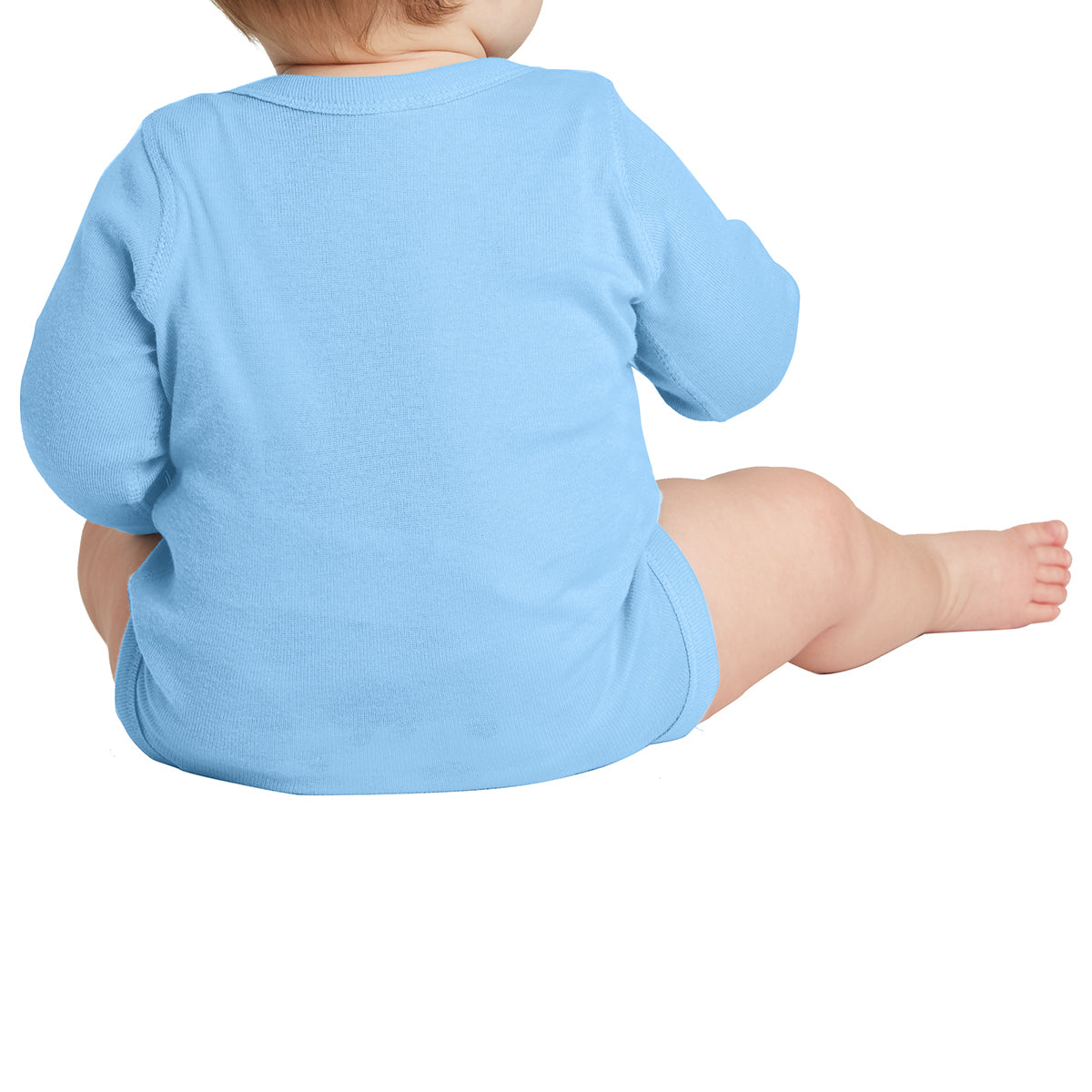 Infant Long Sleeve Baby Rib Bodysuit - Light Blue