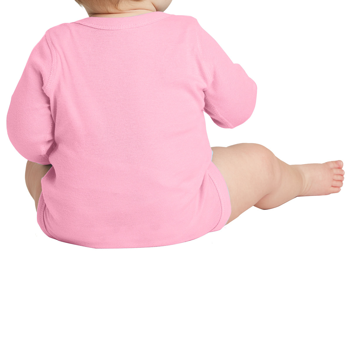Infant Long Sleeve Baby Rib Bodysuit - Pink