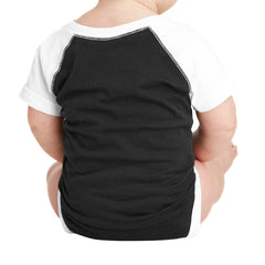 Infant Baseball Fine Jersey Bodysuit - Black/ White