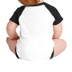 Infant Baseball Fine Jersey Bodysuit - White/Black