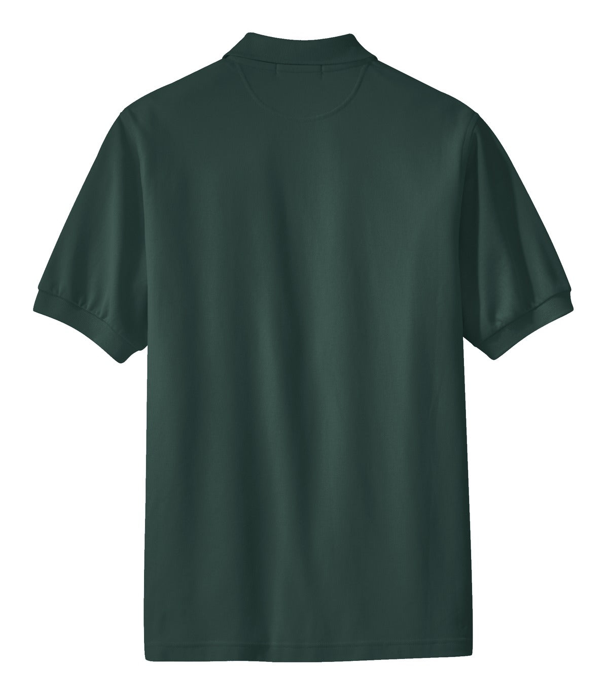 Mafoose Men's 100% Pima Cotton Polo Shirt Dark Green-Back