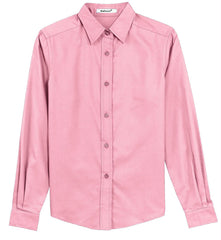 Mafoose Women's Long Sleeve Easy Care Shirt Light Pink-Front