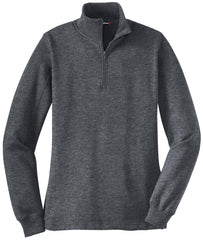 Mafoose Women's 1/4 Zip Sweatshirt Graphite Heather-Front