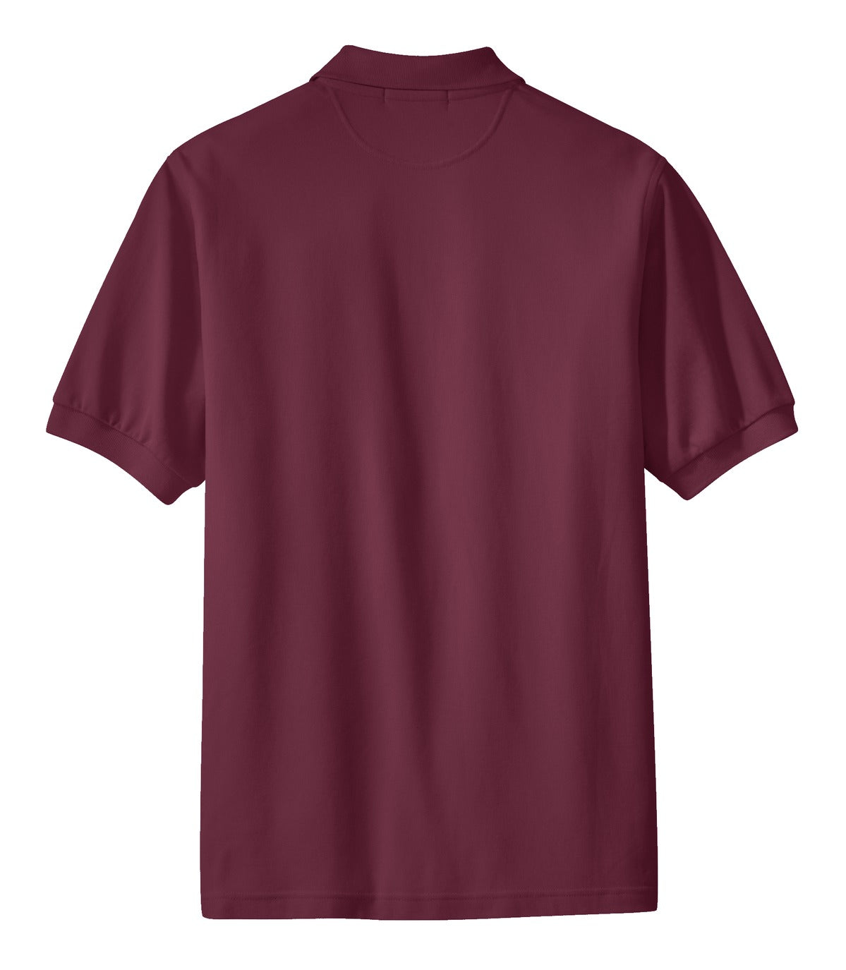 Mafoose Men's 100% Pima Cotton Polo Shirt Burgundy-Back