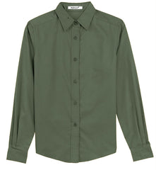 Mafoose Women's Long Sleeve Easy Care Shirt Clover Green-Front