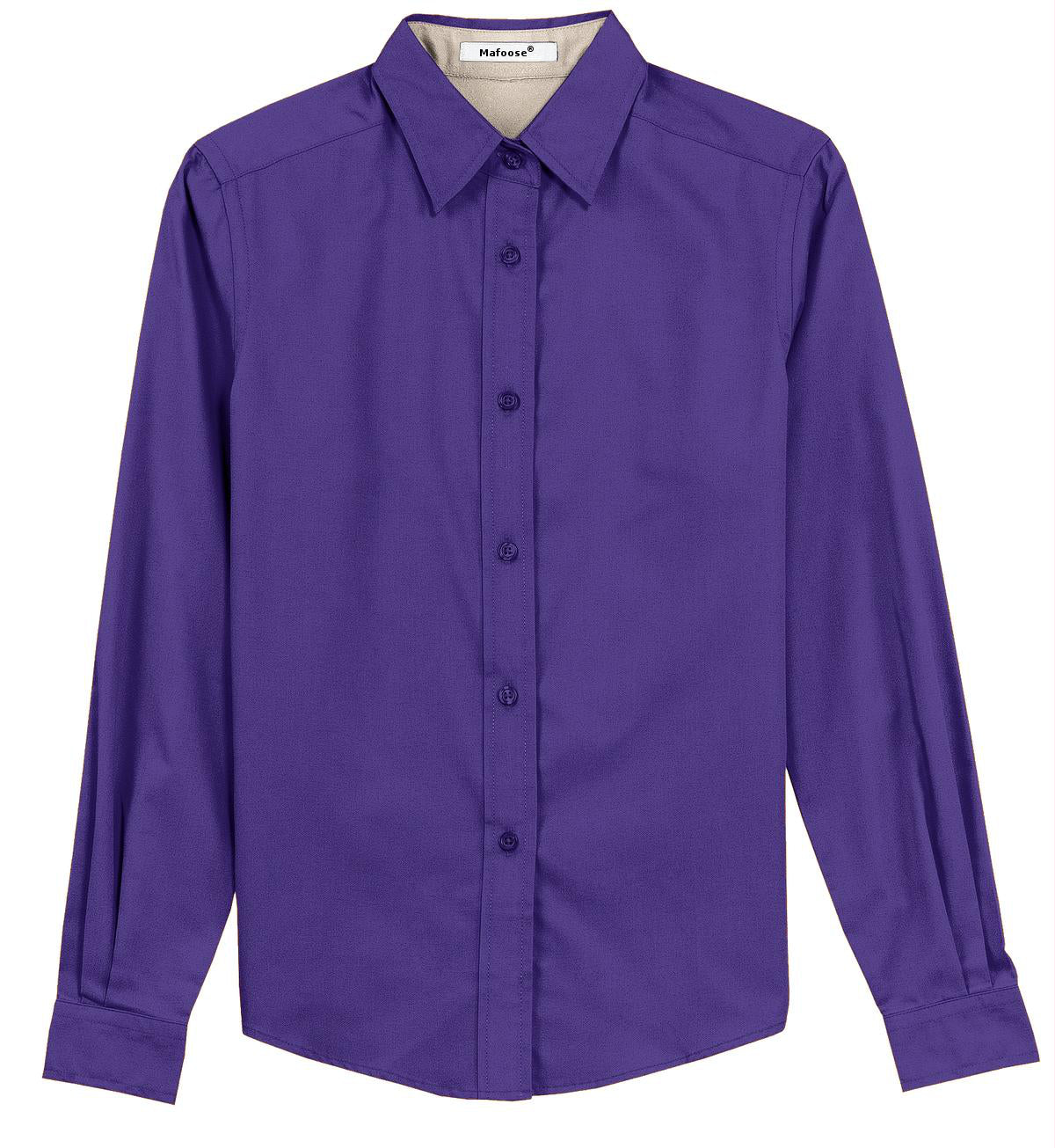 Mafoose Women's Long Sleeve Easy Care Shirt Purple/Light Stone-Front