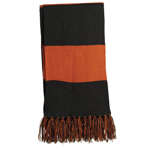 Spectator Scarf - Black/ Deep Orange