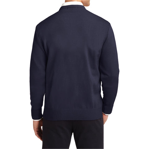 Mafoose Men's Value V-Neck Sweater Navy-Back