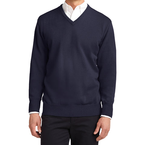 Mafoose Men's Value V-Neck Sweater Navy-Front