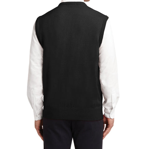 Mafoose Men's Value V-Neck Sweater Vest Black-Back