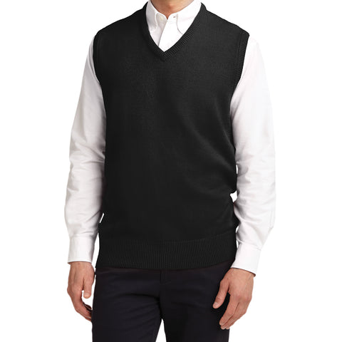 Mafoose Men's Value V-Neck Sweater Vest Black-Front