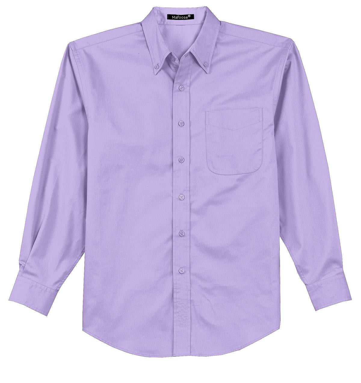 Mafoose Men's Tall Long Sleeve Easy Care Shirt Bright Lavender-Front