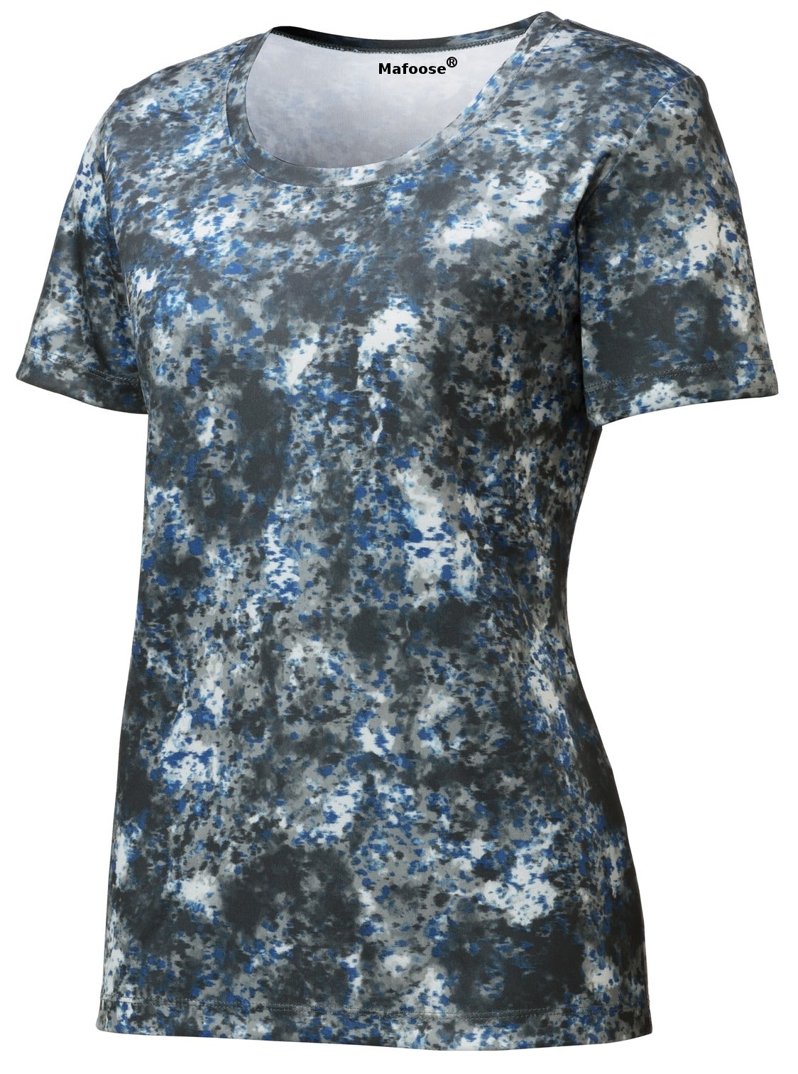 Mafoose Ladies Mineral Freeze Scoop Neck Tee Shirt True Royal-Front