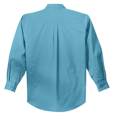 Mafoose Men's Tall Long Sleeve Easy Care Shirt Maui Blue-Back