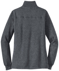 Mafoose Women's 1/4 Zip Sweatshirt Graphite Heather-Back