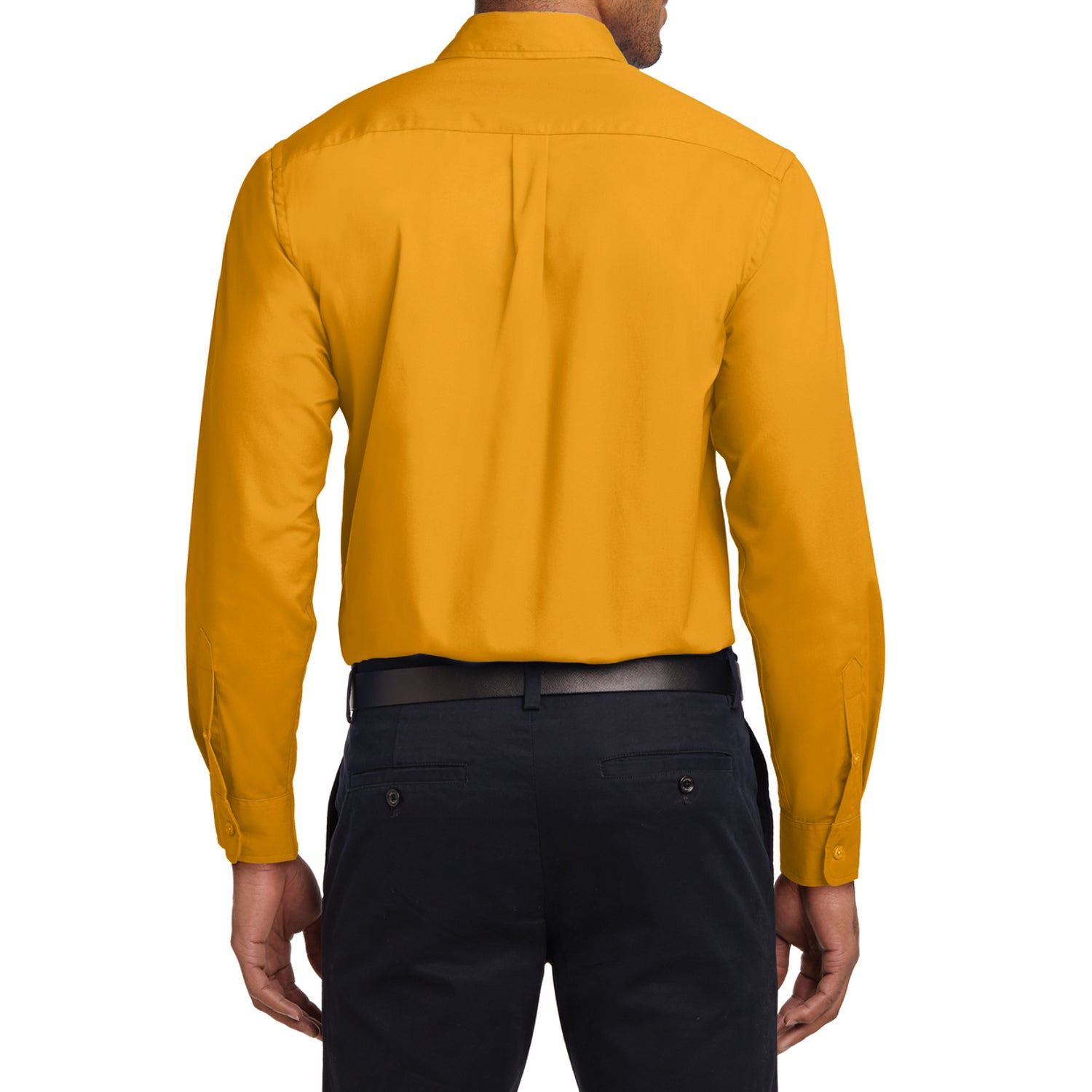 Mafoose Men's Tall Long Sleeve Easy Care Shirt Athletic Gold-Back