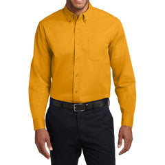 Mafoose Men's Tall Long Sleeve Easy Care Shirt Athletic Gold-Front